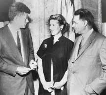 Dalip Saund with John Kennedy