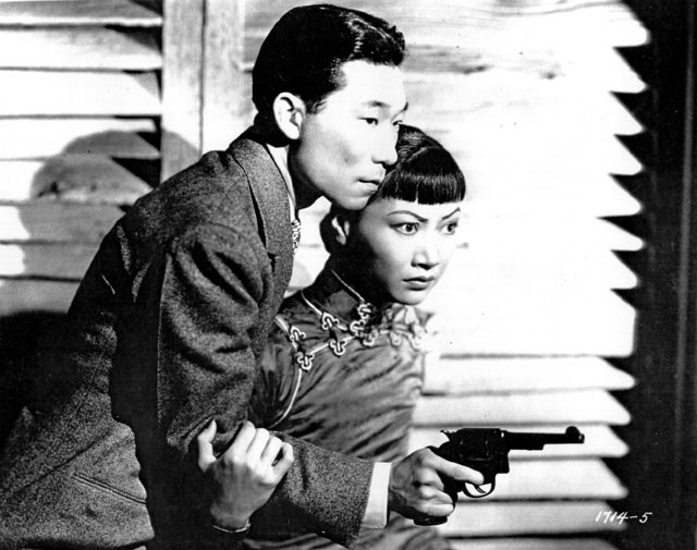 Philip Ahn and Anna May Wong in a publicity still for Daughter of Shanghai